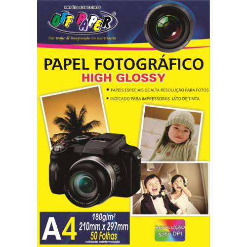 Papel Fotográfico Hig Glossy A4